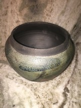 Green/ Brown Painted Candle Holder Large 6 Inch - $14.70