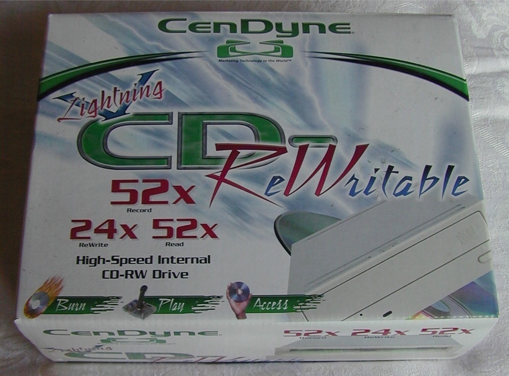 CenDyne 52X CD-Rewriter CD-RW 52x/24x/52x