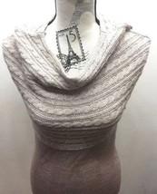 Mango MNG Casual Sports Sweater Sleeveless Cable Knit Blouse Women M Tau... - $23.27