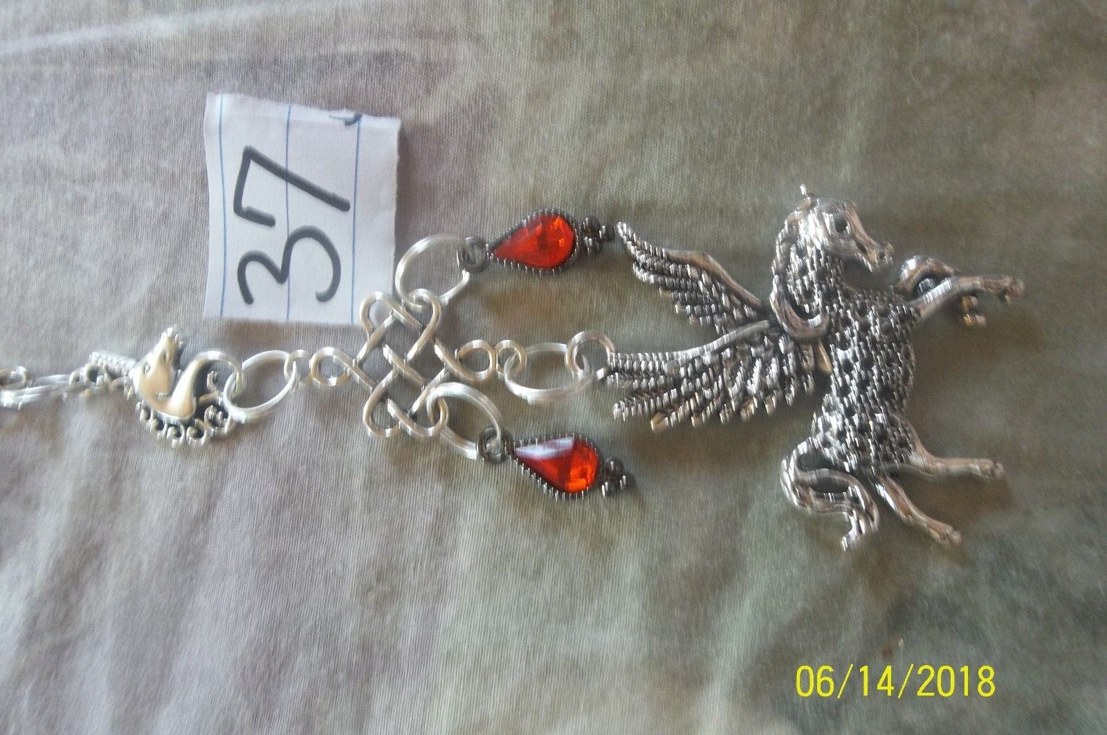 purse jewlrey pegasus unicorn beauty keychain backpack filigree dangle charm #37 image 2