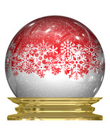 3D Snow Globe with Snow Flakes Floating-Digital... - $3.85
