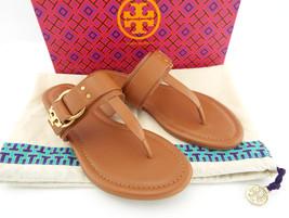 New Tory Burch Size 6 Marsden Beige Flat Sandals Shoes w/ Dust Bag - $149.00
