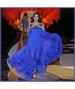 Baroque Sheer Beaded Sleeves n Bodice Flowing Chiffon Pageant Plus Desig... - $447.95