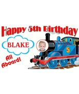 Thomas the Train -Personalized- Birthday Banner w/ photo - $39.95