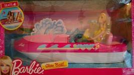 NIB Barbie Glam Boat With Canopy and 1 Doll Seats 4 - $75.00