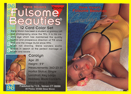 FULSOME BEAUTIES GIRL Photo 1996 PROMO Card-SIGNED Wow! - $14.80