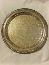 Wm. Rogers Silverplate Serving Tray Silver Plate - $12.55