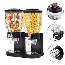 Double Chamber Airtight Cereal And Dry Food Dispenser With Built In Spil... - $42.41