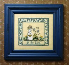 CLEARANCE The Bee Keeper cross stitch kit The Bee Cottage  - $18.00