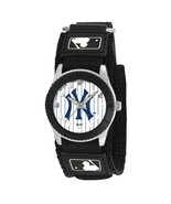 NEW YORK YANKEES PINSTRIPE youth / ladies black adjustable velcro watch - $24.95