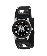 MIAMI MARLINS youth / ladies black adjustable velcro watch - $24.95