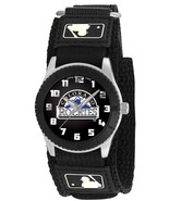 COLORADO ROCKIES youth / ladies black adjustable velcro watch - $24.95