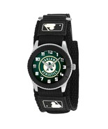 OAKLAND A'S youth / ladies black adjustable velcro watch - $24.95