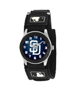 SAN DIEGO PADRES youth / ladies black adjustable velcro watch - $24.95