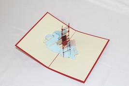 3D Airplane, Birthday Card, Greeting Card, Christmas Card, Anniversary C... - $4.99