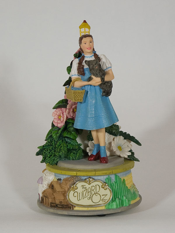 WIZARD OF OZ MUSICAL DOROTHY TOTO FIGURINE SAN FRANCISCO MUSIC BOX COMPANY