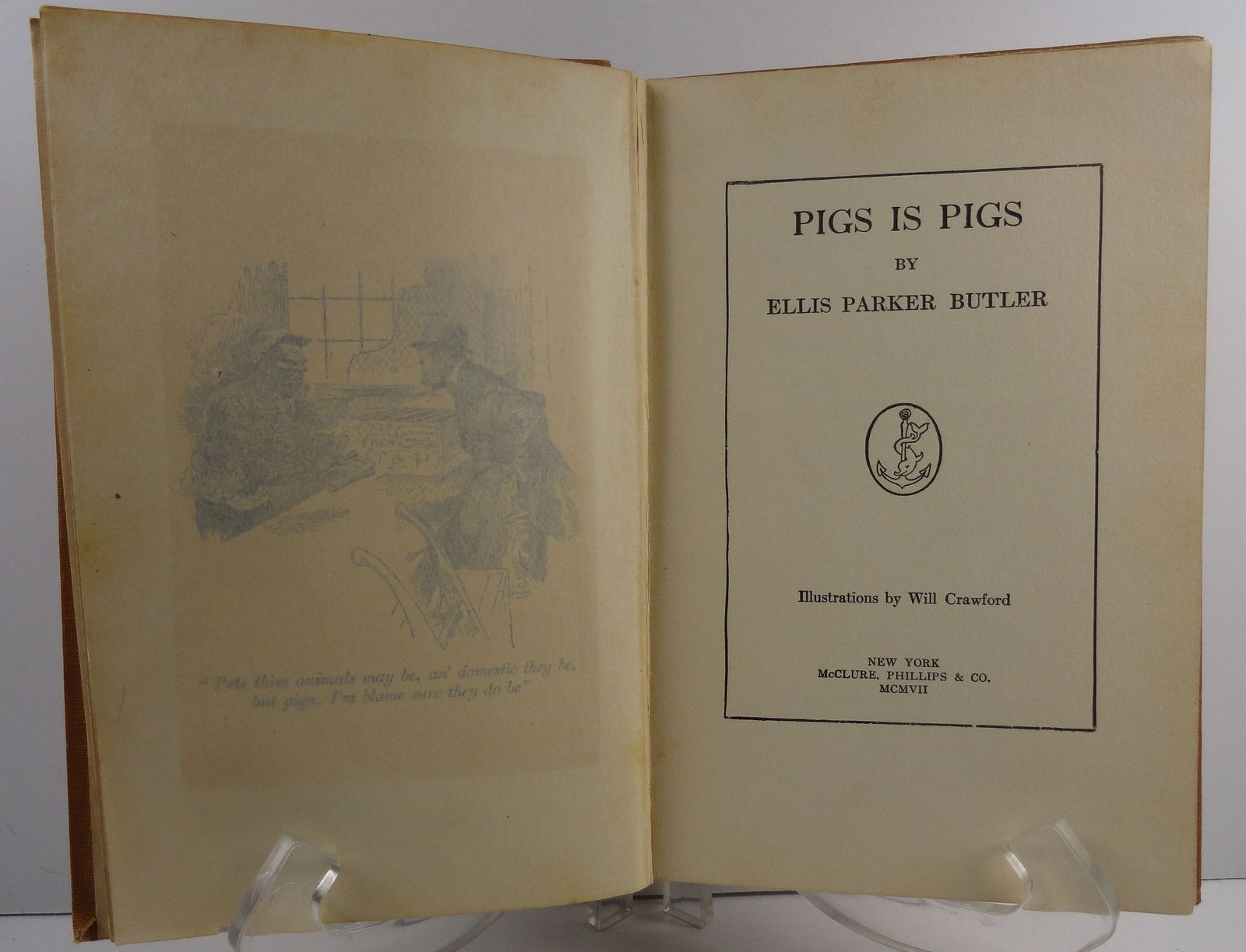 Pigs is Pigs by Ellis Parker Butler 1907 McClure Phillips
