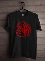 Fire & Blood Targaryen Sigil Khalessi Mother Of Dragons GoT Men Tee S-3XL Black - $18.00