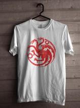 Fire & Blood Targaryen Sigil Khalessi Mother Of Dragons GoT Men Tee S-3XL White - $18.00