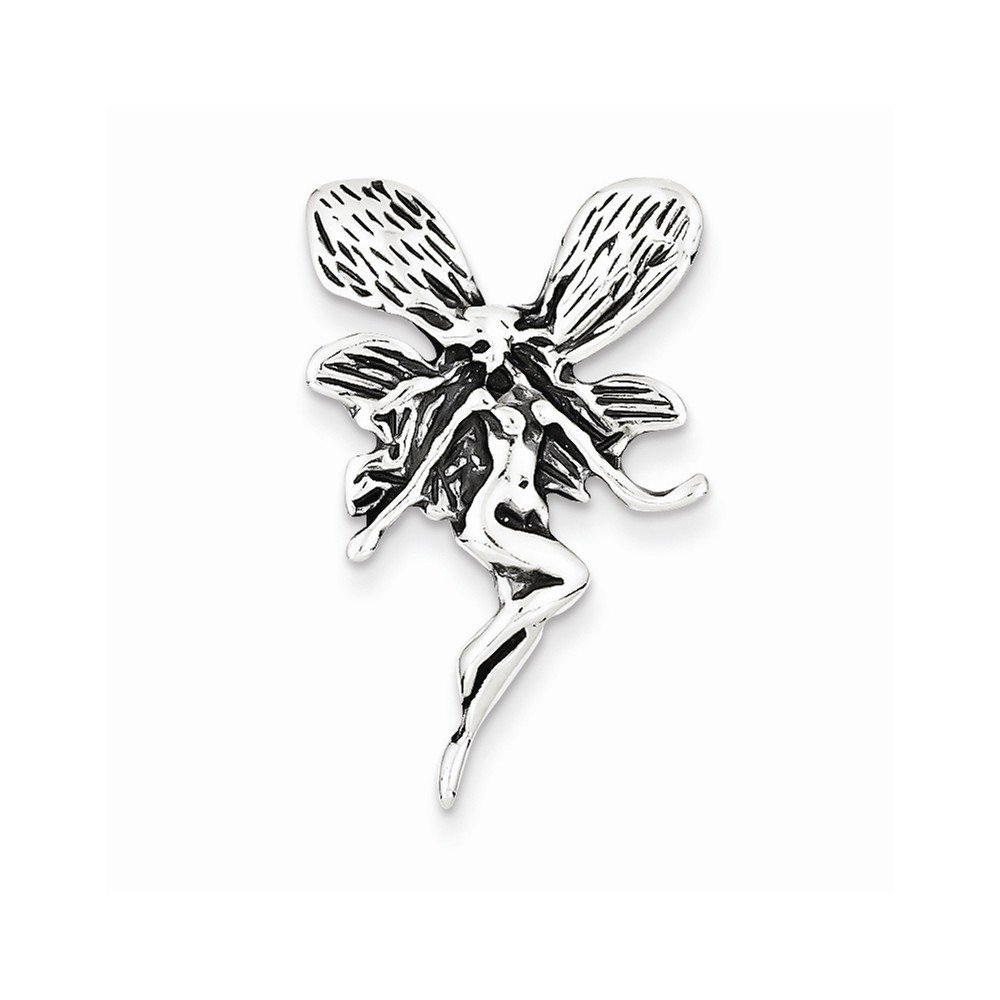 Sterling Silver Antiqued Fairy Pendant, Best Quality Free Gift Box Satisfacti...