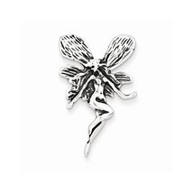 Sterling Silver Antiqued Fairy Pendant, Best Quality Free Gift Box Satis... - $11.02