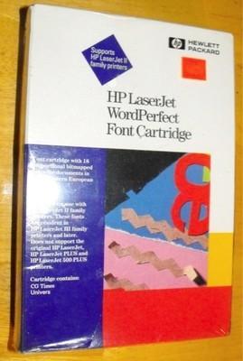 HP LaserJet WordPerfect Font Cartridge:CG Times,Univers