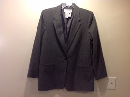 Great Used Condition Sag Harbor Gray Blazer Size 14 1 Button Front