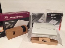Vintage GE Answering System Single Microcassette (white) - $29.69