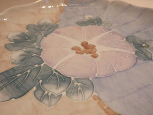 Vintage Frederick Cooper Porcelain Coupe Plate Dish Morning Glory Decorative