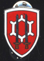 "Vintage US Army Engineer Command Vietnam 1 1/16"" Enameled Metal DI Crest Pin - $6.00"