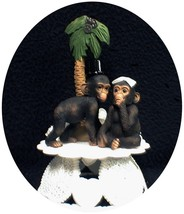 """Your My Cutie"" Funny Monkey Chimp Ape Wedding Cake topper Groom top zoo... - $46.33"