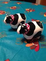 Russ Farmer Moo Cow Porcelain Ceramic Salt & Pepper Shaker Shakers Set B... - $14.84