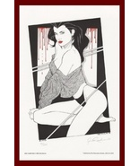 NAGEL style SHE-VAMPYRE Signed & Numbered 1992 hand-colored Blood print ! - $24.71