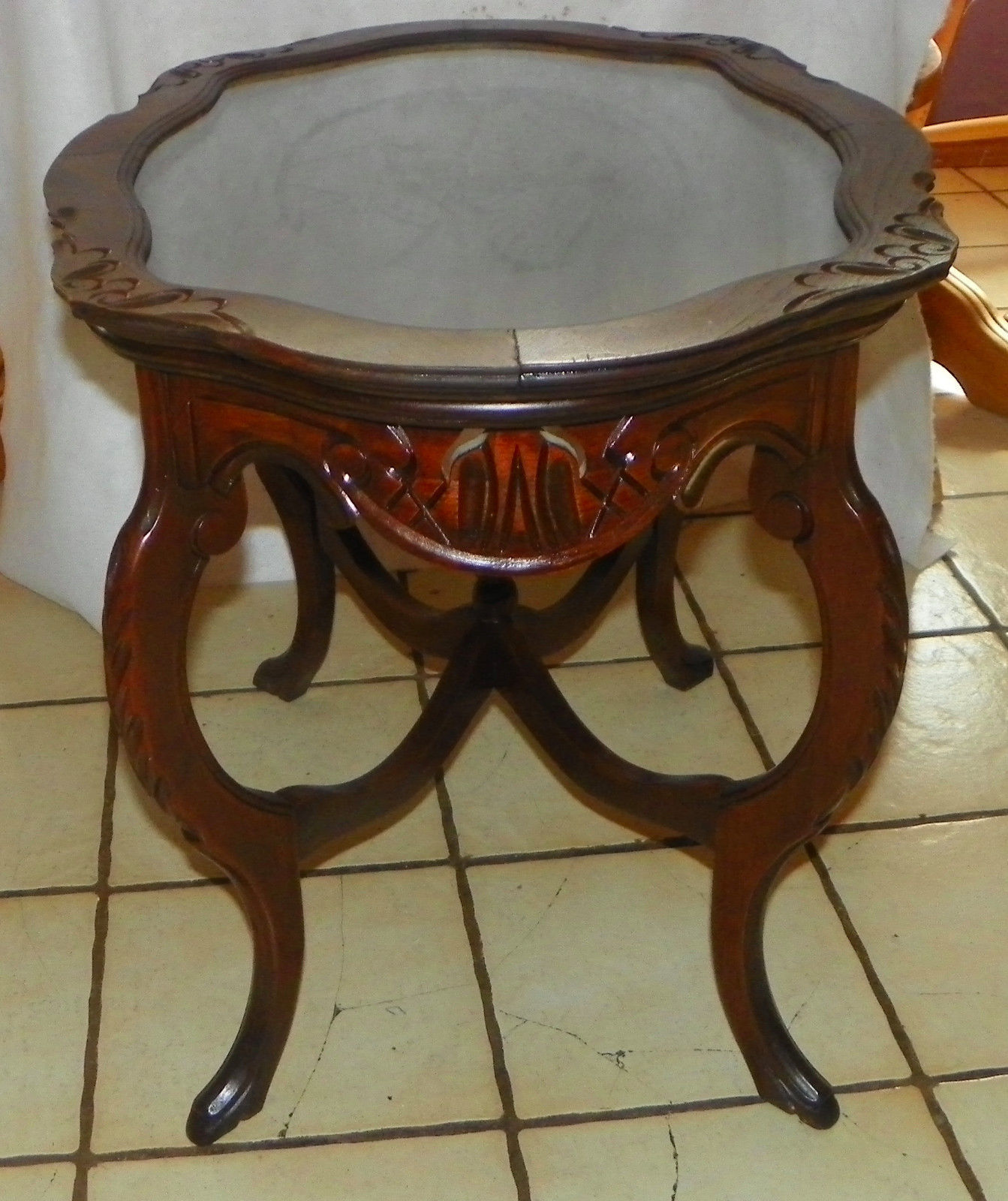 Coffee Table Tray Home Goods: Walnut Eagle Carved Coffee Table With And 50 Similar Items