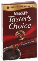 Nescafe Taster's Choice House Blend 6 single se... - $4.49