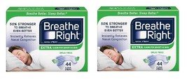 88 BREATHE RIGHT EXTRA NASAL STRIPS CLEAR  STRI... - $34.64