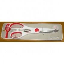 "Betty Crocker kitchen shears Scissors 8.5"" stainless steel, white/red - $96,34 MXN"