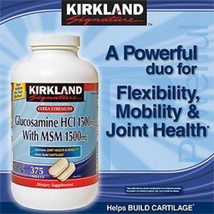 Kirkland Signature Extra Strength Glucosamine HCI 1500mg with MSM 375 Ta... - $24.93