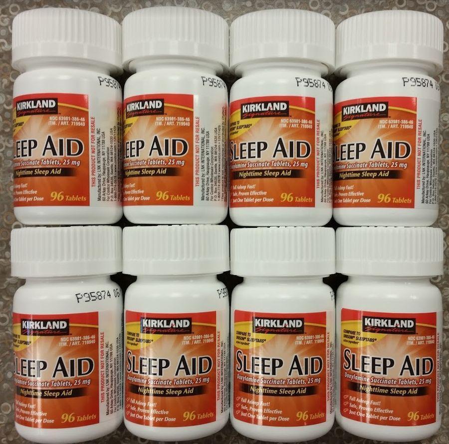 Kirkland sleep aid doxylamine succinate 25 mg 768 tablets sleeping