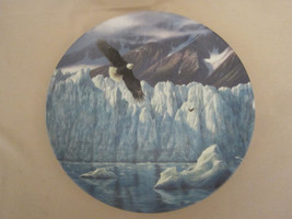 BALD EAGLE collector plate ICY MAJESTY Bradford Exchange ALASKA LAST FRO... - $18.39