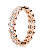 Rose Gold Plated Alluring Brilliant with Clear CZ Ring For Women QJCB713 - $23.88