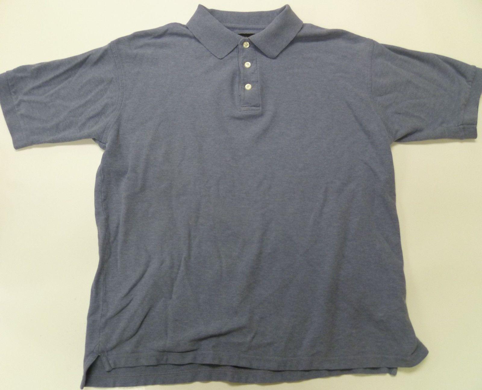 Croft barrow polo shirt large l light blue mens short for Light blue short sleeve shirt mens