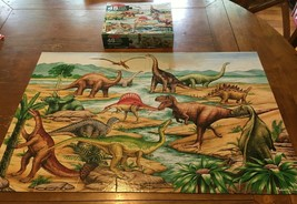 Melissa & Doug DINOSAURS FLOOR PUZZLE 48 Pieces W/ Box 3 FOOT LONG - $19.80