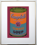 Andy Warhol Campbell's 1968 Vintage Tomato Soup Color Screenprint 1968 J... - $12,375.00