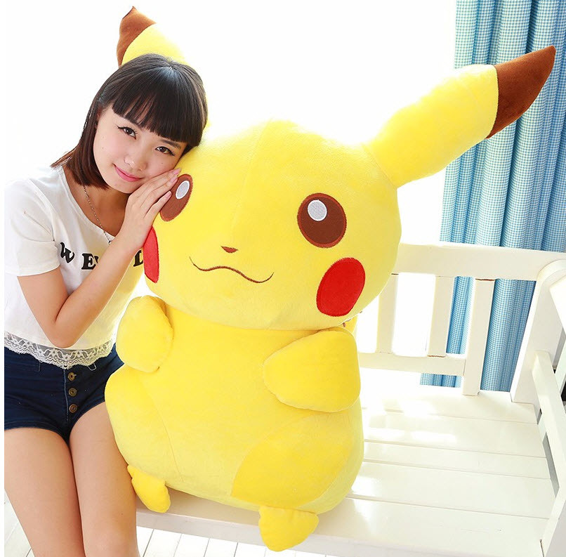 Large 50cm Pokemon Pikachu Go Plush NEW Toy Soft Stuffed Animal Doll Huge 20inch