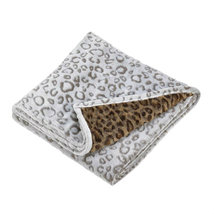 "Soft Double Sided Leopard Print 67"" x 50"" Polyester Throw Blanket Accent... - $19.31"