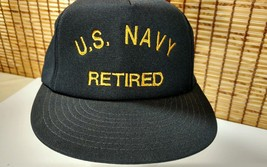 US Navy Retired Snapback Hat Embroidered Script Cap The Original Binky O... - $18.95