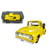 1955 Ford F-100 Pickup Truck Yellow 1/24 Diecas... - $52.99
