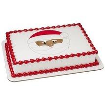 "3"" Round Be Jolly Santa PhotoCake Image (African American) Edible Frosting Cake  - $10.50"