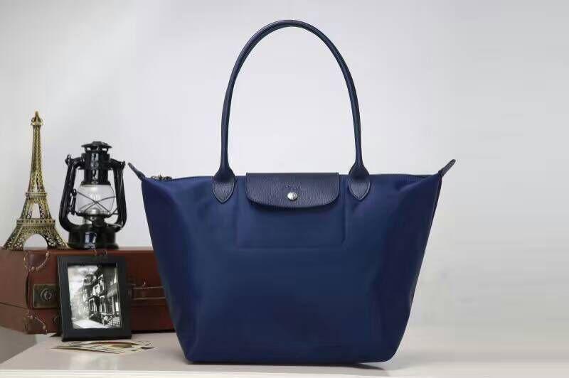 Longchamp Bag Le Pliage Size : Longchamp le pliage neo nylon blue tote handbag shoulder